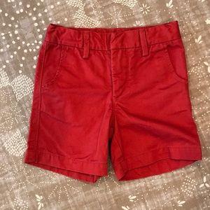 Gap toddler boy red shorts